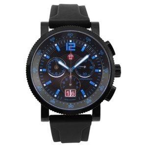 Michele 42mm Sport Sail Techno Blue Watch